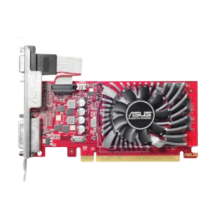 Asus Radeon R7 240, 2GB DDR5, PCIe3, VGA, DVI, HDMI, 780MHz Clock, Low Profile (Bracket Included)
