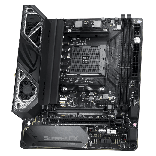 Asus ROG CROSSHAIR VIII IMPACT, AMD X570, AM4, Mini DTX, Wi-Fi, 2 x M.2 + SO-DIMM.2 Card (Dual M.2), RGB Lighting