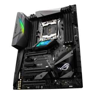 Asus ROG STRIX X299-E GAMING, Intel X299, 2066, ATX, 8 DDR4, SLI/XFire, Wi-Fi, M.2 Heatsink, RGB Lighting