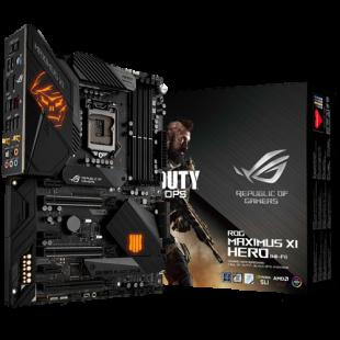 Asus ROG MAXIMUS XI HERO (WI-FI) Call of Duty Edition, Intel Z390, 1151, ATX, 4 DDR4, XFire/SLI, HDMI, DP, Wi-Fi, RGB Lighting