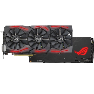 Asus Radeon ROG STRIX RX580 TOP, 8GB DDR5, DVI, 2 HDMI, 2 DP, 1431MHz Clock, RGB Lighting