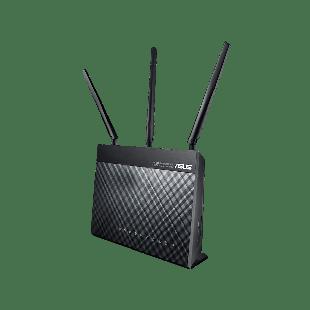Asus (DSL-AC68U) AC1900 (600+1300) Wireless Dual Band GB VDSL2/ADSL2+ Modem Router, USB 3.0 - Black