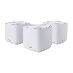 Brand New Asus (ZenWiFi AX Mini (XD4)) AX1800 Wireless Dual Band Mesh Mini System/ 3 Pack/ AiMesh/ AiProtection/ White