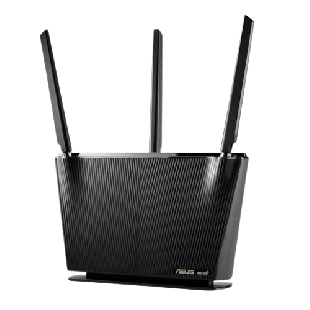 Asus (RT-AX68U) AX2700 (1802+861Mbps) Wireless Dual Band Router, MU-MIMO & OFDMA, 802.11ax, AiMesh Compatible, AiProtection Pro Security