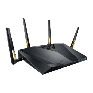 Asus (RT-AX88U) AX6000 (1148 + 4804Mbps) Wireless Dual Band Gaming Router, MU-MIMO, 802.11ax, USB 3.0, 8 Ports