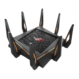 Asus (GT-AX11000) ROG Rapture AX11000 (1148+4804+4804) Wireless Tri-Band Gaming Router, 802.11ax, Quad Core CPU, AiMesh