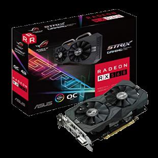 Asus ROG STRIX RX560 OC, 4GB DDR5, PCIe3, DVI, HDMI, DP, 1336MHz Clock, RGB Lighting