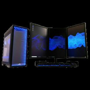 Fast Gaming PC bundle/ Triple Monitor 22-Inch/ Quad i5 3rd Gen/ GTX-1650 4GB/ 8GB RAM/ 240GB SSD+500GB HDD/ Windows 10