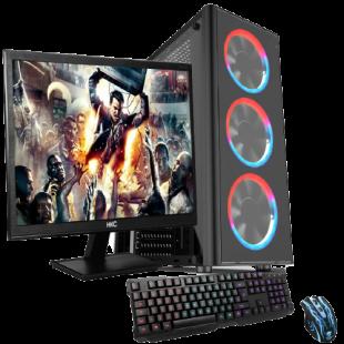 Gaming PC Bundle/ Ryzen 5 3400G Quad Core/ 23.6-Inch Monitor/ 16GB RAM/ 2TB HDD+480GB SSD/ GTX 1650 4GB