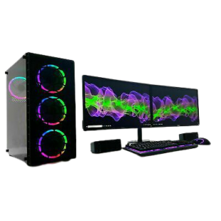 Gaming PC Bundle/ Core i7-3770/ 32GB RAM/ 240GB SSD+1TB HDD/ GTX 1050Ti 4GB/ Dual 23-Inch Monitor/ Windows 10/ A