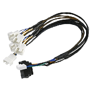 Akasa FLEXA FP5S Smart PWM Cable for 5 PWM Case Fans and Coolers, SATA Power