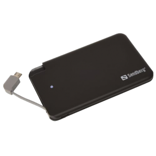 Sandberg (480-14) 2500mAh Excellence Power Bank, MicroUSB Smartphones, 5 Year Warranty