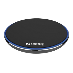 Sandberg Wireless Charging Pad, 10W, Aluminium, Micro USB, Supports Fast Charge, 5 Year Warranty