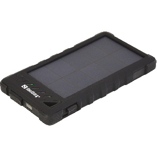 Sandberg Outdoor Solar Power bank, 8000mAh, USB & Solar Charging, Flashlight, Rainproof, 4 LED, 5 Year Warranty
