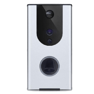 Dynamode Smart Outdoor Video Doorbell, Wireless, Day/Night, Motion Detect, 2-Way Voice, IP55, Self-Powered