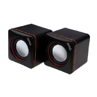 Brand New Jedel 2.0 Mini Stereo Speakers, 3W x2, Black