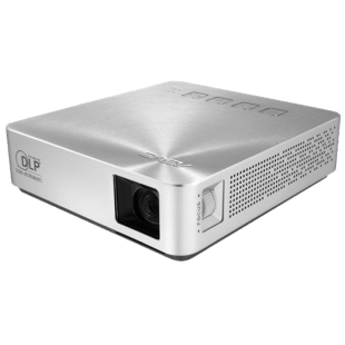 Asus S1 Portable DLP LED Projector, 854 x 480, 16:9, HDMI, MHL, 200 Lumens, 6000mAh Battery