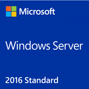 Microsoft Windows Server 2016 Standard, x64, 16 Core, English, 1 Pack, DSP, OEM