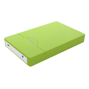 "Approx Green External 2.5"" SATA Hard Drive Caddy, USB2, USB Powered, Screwless, Carry Case"