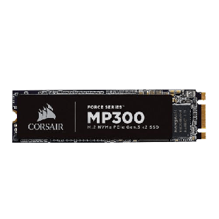 Corsair 960GB Force Series MP300  M.2 NVMe SSD, M.2 2280, PCIe, 3D NAND, R/W 1600/1080 MB/s