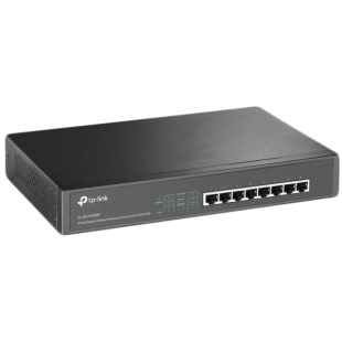 TP-Link (TL-SG1008MP) 8-Port Gigabit Unmanaged Desktop/Rackmount Switch, 8-Port PoE+, Metal