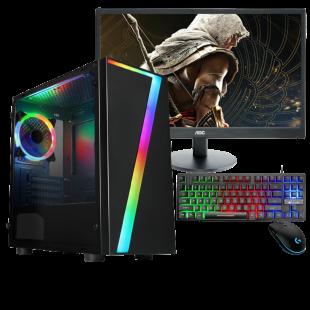 CK - Refurb Intel i7-2nd Gen/ 16GB RAM/ 2TB HDD+240GB SSD/ Full Set Gaming Pc