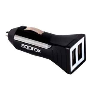 Approx (APPUSBCARB) USB Compact Car Adapter, 5V 1000mA, Black