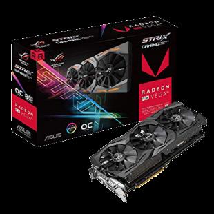 Asus Radeon ROG STRIX RX VEGA56 OC, 8GB HBM2, DVI, 2 HDMI, 2 DP, RGB Lighting