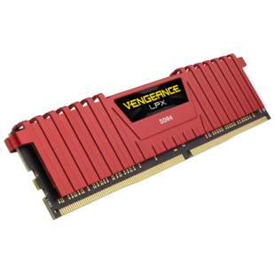Corsair Vengeance LPX 4GB, DDR4, 2400MHz (PC4-19200), CL16, XMP 2.0, DIMM Memory, Red