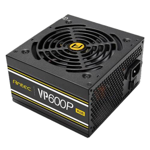 Antec 600W VP600P PLUS PSU, Fully Wired, ATX V2.4, 12cm Silent Fan, 80+ White, Continuous Power