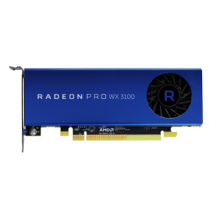 AMD Radeon Pro WX 3100 Professional Graphics Card, DP, 2 miniDP (mDP to DVI Adapter), Low Profile (Bracket Included)