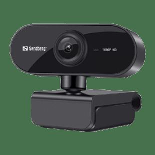 Brand New Sandberg USB Flex FHD 2MP Webcam with Mic/ 1080p / 30fps/ Glass Lens/ Auto Adjusting/ 360° Rotatable/ Clip-on/Desk Mount/ 5 Year Warranty