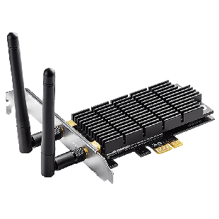 TP-Link (Archer T6E) AC1300 (400+867) Wireless Dual Band PCI-Express Adapter, 2 Antennas - Black