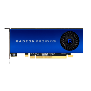 AMD Radeon Pro WX 4100 Professional Graphics Card,4 miniDP, Low Profile (Bracket Included)