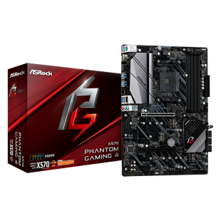 Asrock X570 Phantom Gaming 4, AMD X570, AM4, ATX, 4 DDR4, HDMI, DP, XFire, PCIe4, RGB Lighting