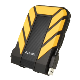 "ADATA 4TB HD710 Pro Rugged External Hard Drive, 2.5"", USB 3.1, IP68 Water/Dust Proof, Shock Proof, Yellow"