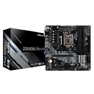 Asrock Z390M PRO4, Intel Z390, 1151, Micro ATX, DDR4, CrossFire, VGA, DVI, HDMI